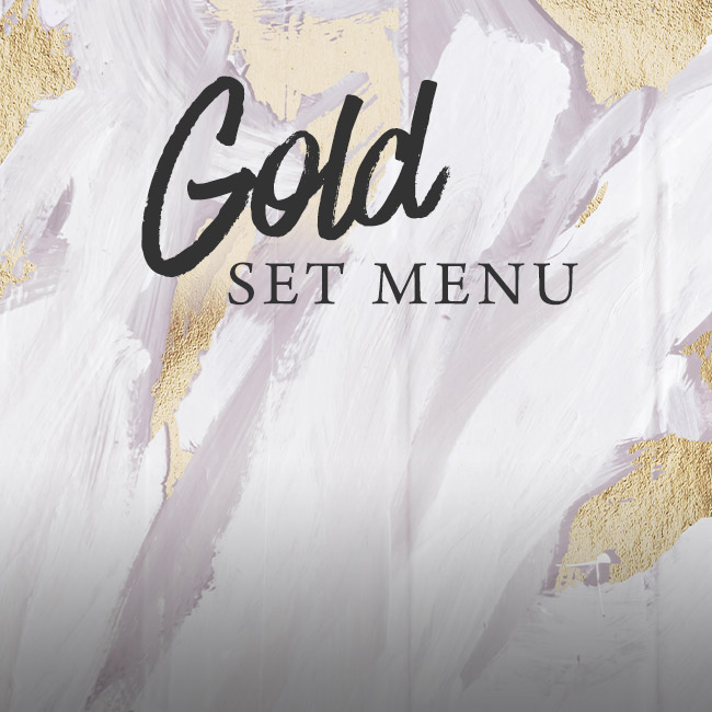 Gold set menu at The Gate