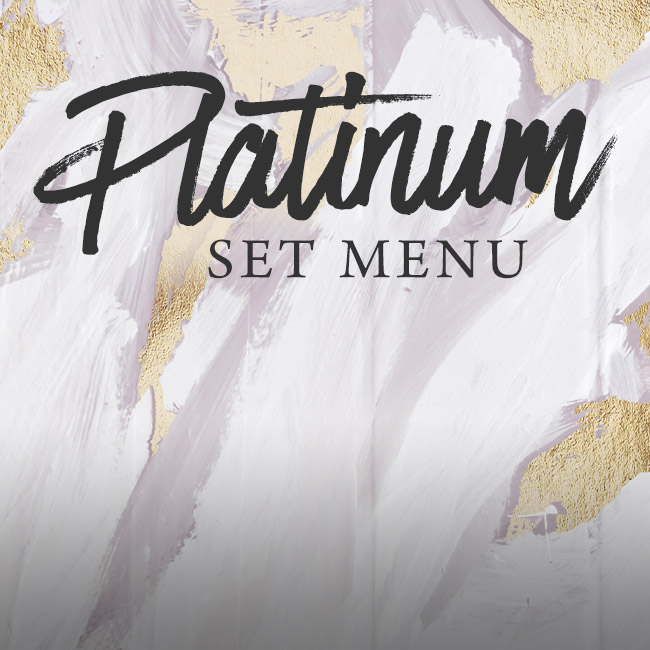 Platinum set menu at The Gate